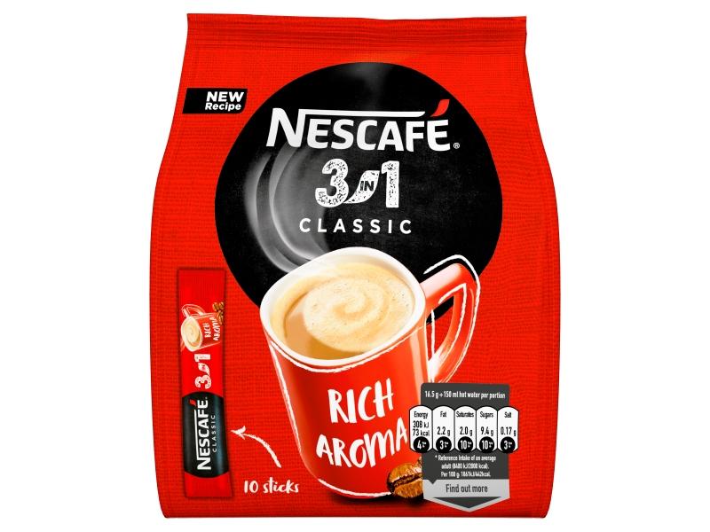NESCAFÉ 3in1 Classic, instantní káva, 10 sáčků x 16,5g (165g)