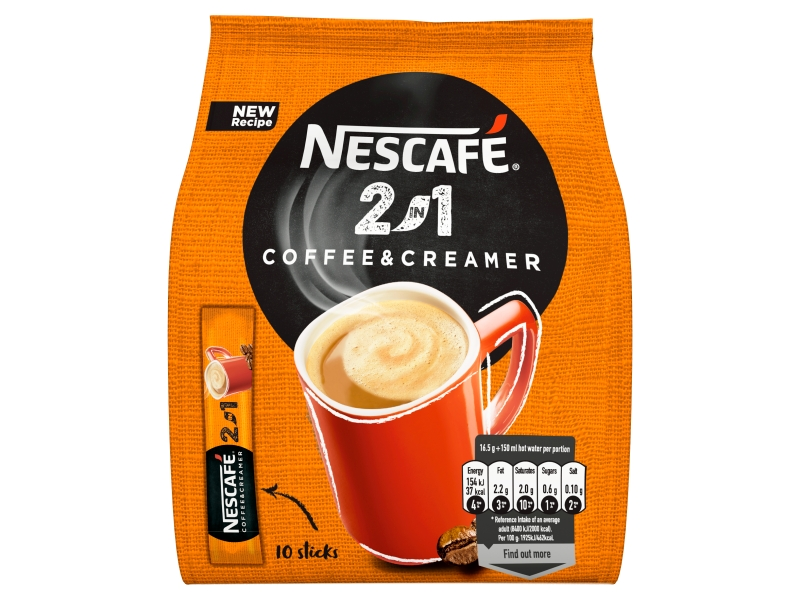 NESCAFÉ 2in1, instantní káva, 10 sáčků x 8g (80g)