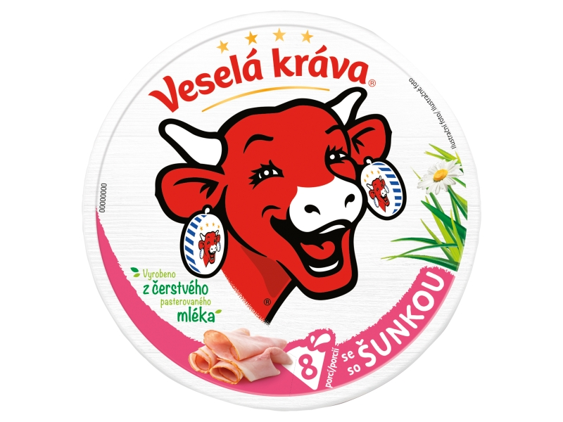 Veselá Kráva Tavený sýr se šunkou 120g