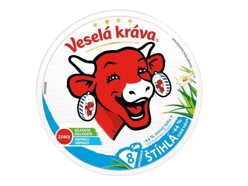 Veselá Kráva Štíhlá tavený sýr -44% méně tuku 120g