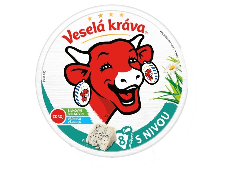 Veselá Kráva Tavený sýr s nivou 120g