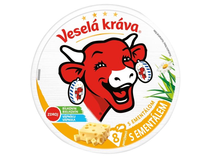 Veselá Kráva Tavený sýr s ementálem 120g