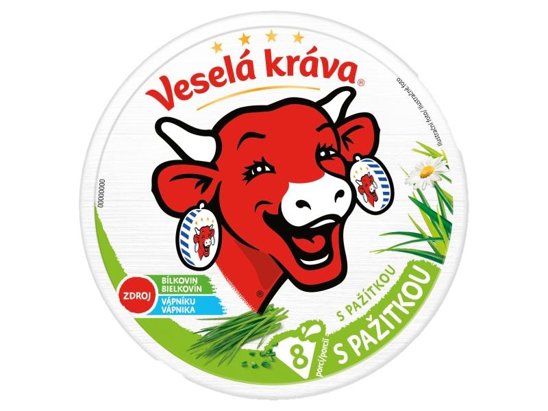 Veselá Kráva Tavený sýr s pažitkou 120g