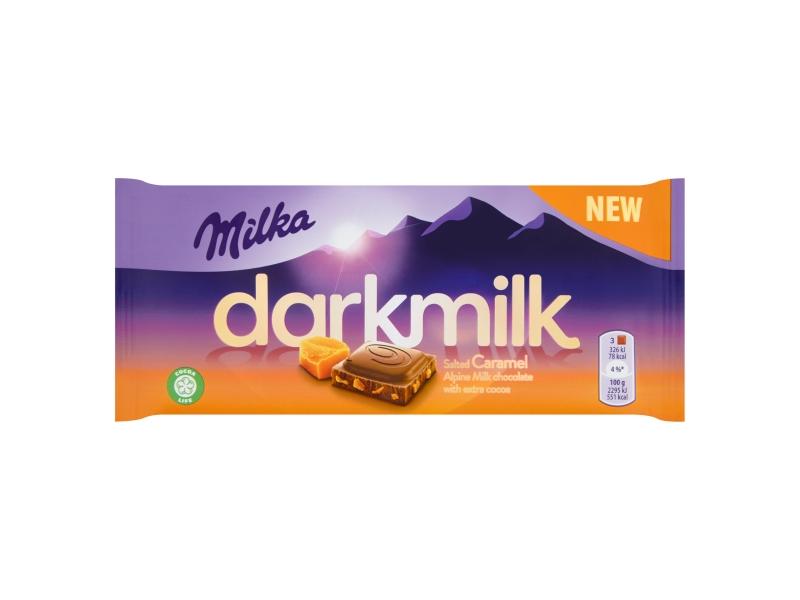 Milka Darkmilk Salted Caramel 85g