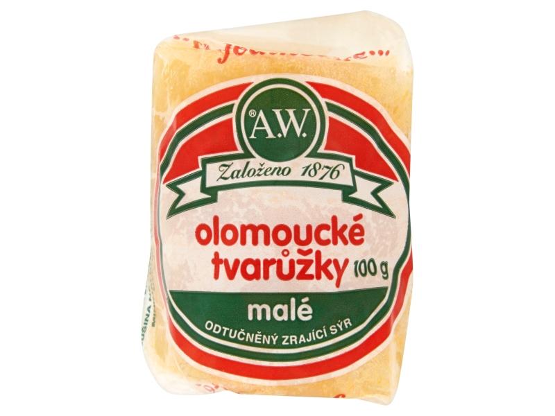VÝPRODEJ A.W. Olomoucké tvarůžky malé 100g
