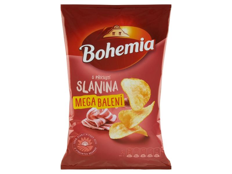 Bohemia Chips s příchutí slanina mega balení 215g