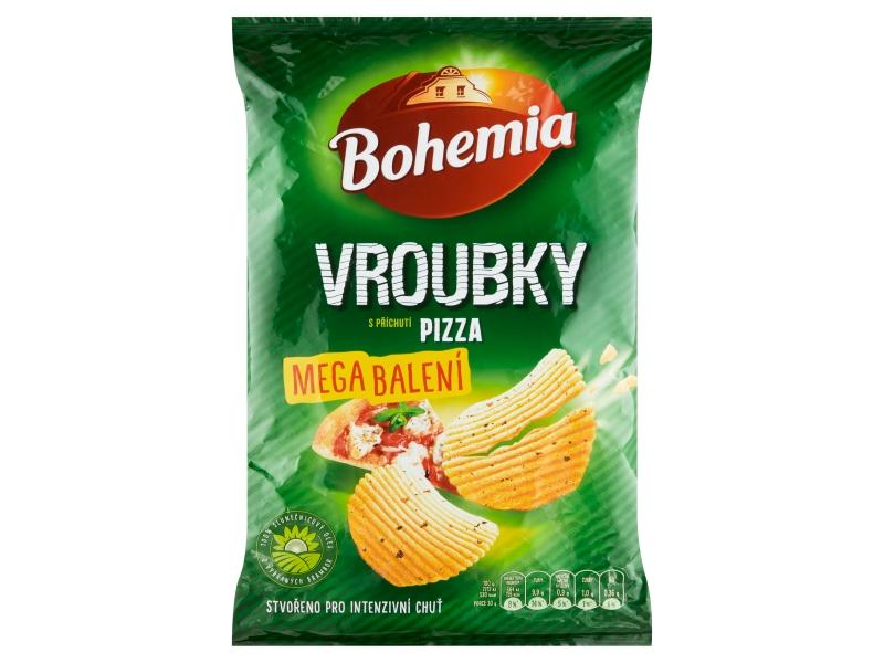 Bohemia Chips Vroubky s příchutí pizza mega balení 210g