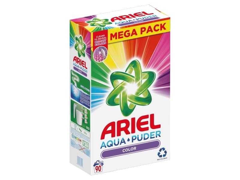 Ariel AquaPuder Color Prací Prášek (90 praní) 6,75kg