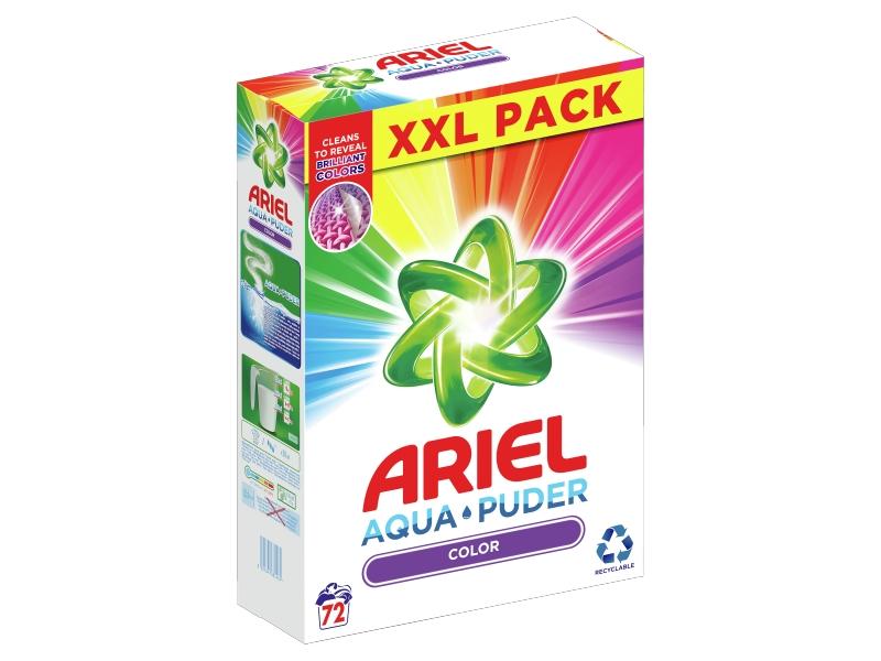 Ariel AquaPuder Color Prací Prášek (72 praní) 5,4kg