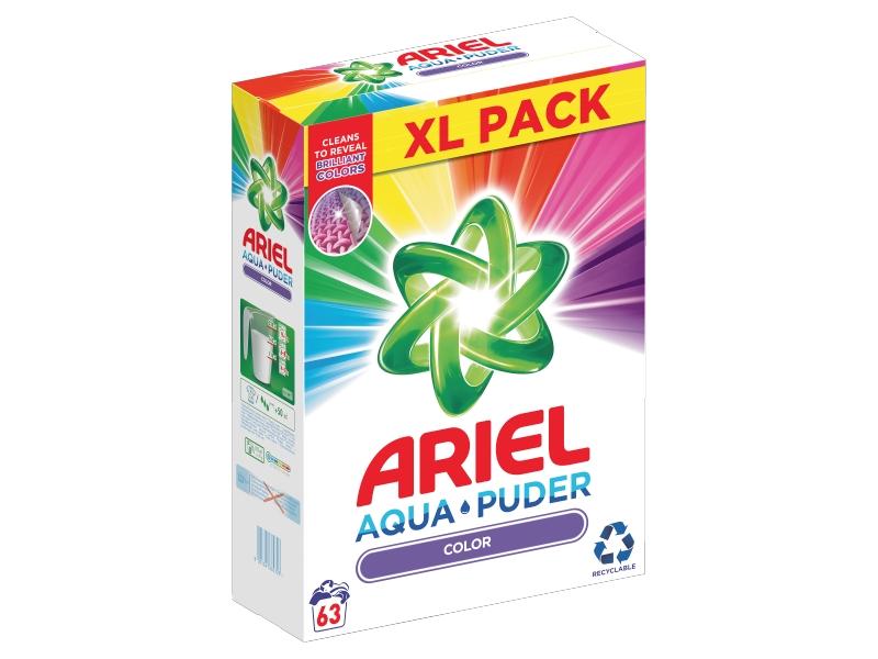 Ariel AquaPuder Color Prací Prášek (63 praní) 4,725kg