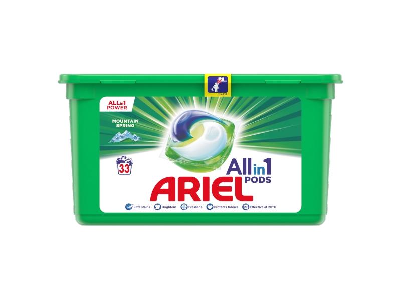 Ariel All-In-1 PODs Mountain Spring Kapsle Na Praní, 33 Praní