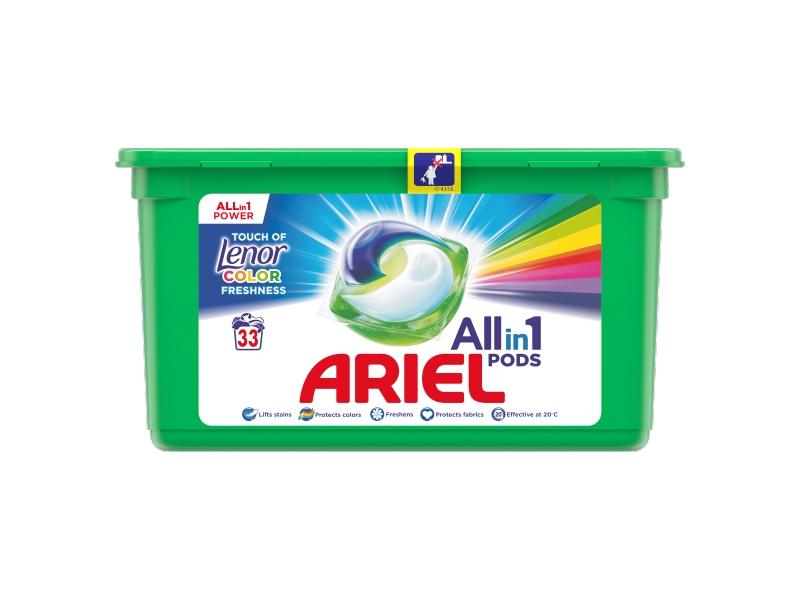 Ariel All-In-1 PODs + Touch Of Lenor Fresh Kapsle Na Praní, 33 Praní