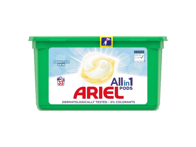 Ariel Allin1 PODS Sensitive Kapsle Na Praní 33 Praní