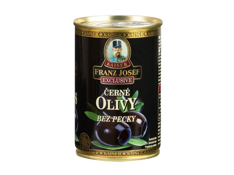 Franz Josef Kaiser Černé olivy bez pecky 300g