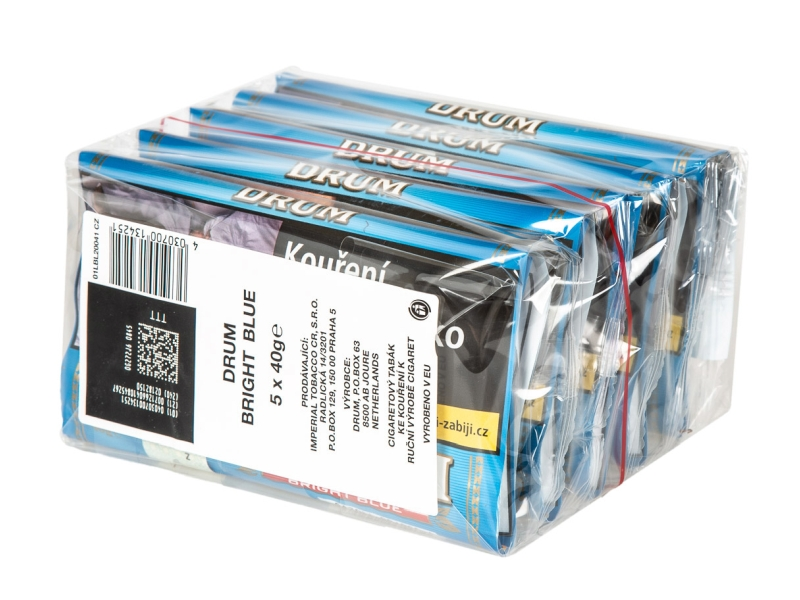 Drum Bright Blue Cigaretový tabák karton 5 x 40g