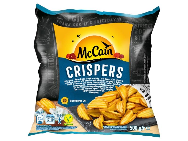 McCain Crispers Extra křupové V hranolky se slupkou 500g