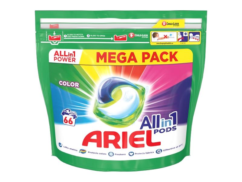 Ariel All-In-1 PODs Colour Kapsle Na Praní, 66 Praní