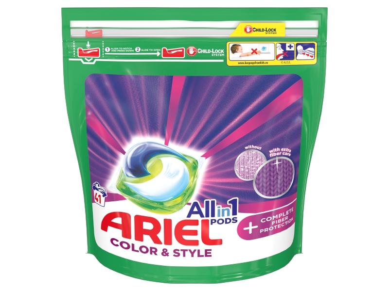 Ariel All-In-1 PODs + Complete Fiber Protection Kapsle Na Praní, 41 Praní