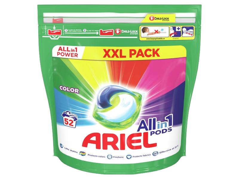 Ariel All-In-1 PODs Colour Kapsle Na Praní, 52 Praní
