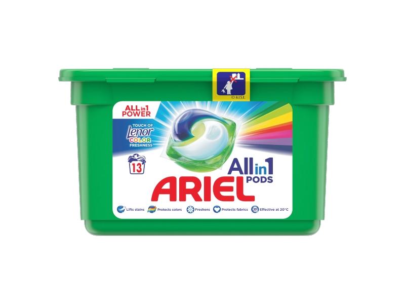 Ariel All-In-1 PODs + Touch Of Lenor Kapsle Na Praní, 13 Praní
