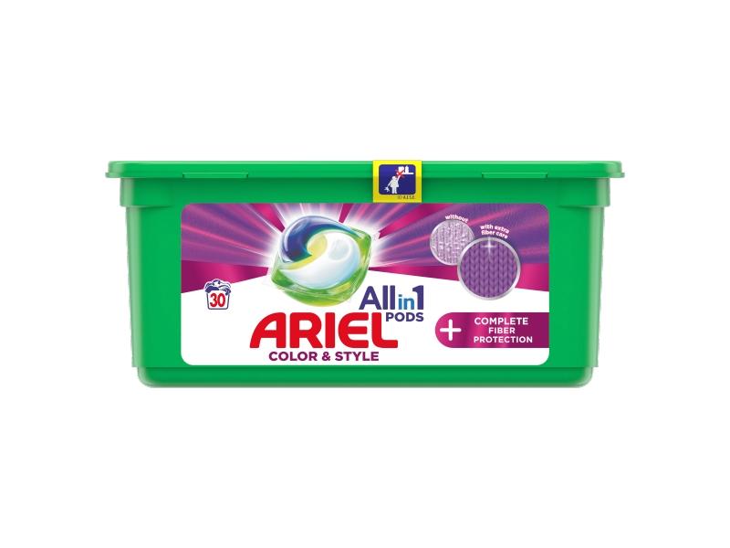 Ariel All-In-1 PODs + Complete Fiber Protection Kapsle Na Praní, 30 Praní