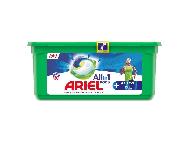 Ariel All-In-1 PODs + Active Deo-Fresh Kapsle Na Praní, 30 Praní