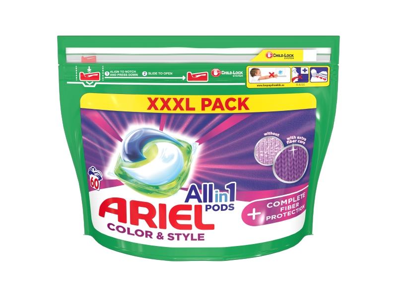 Ariel All-In-1 PODs + Complete Fiber Protection Kapsle Na Praní, 60 Praní