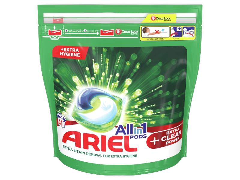 Ariel All-In-1 PODs + Extra Clean Power Kapsle Na Praní, 41 Praní