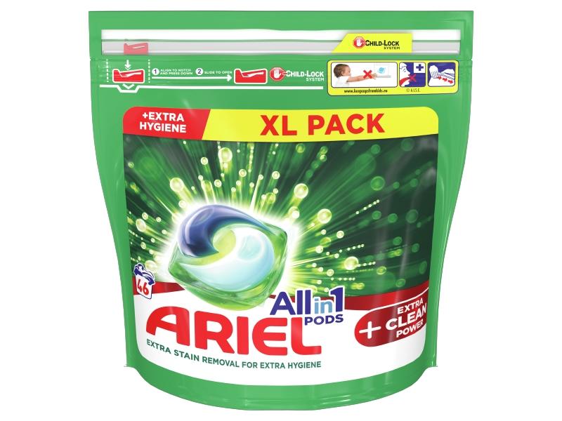 Ariel All-In-1 PODs + Extra Clean Power Kapsle Na Praní, 46 Praní
