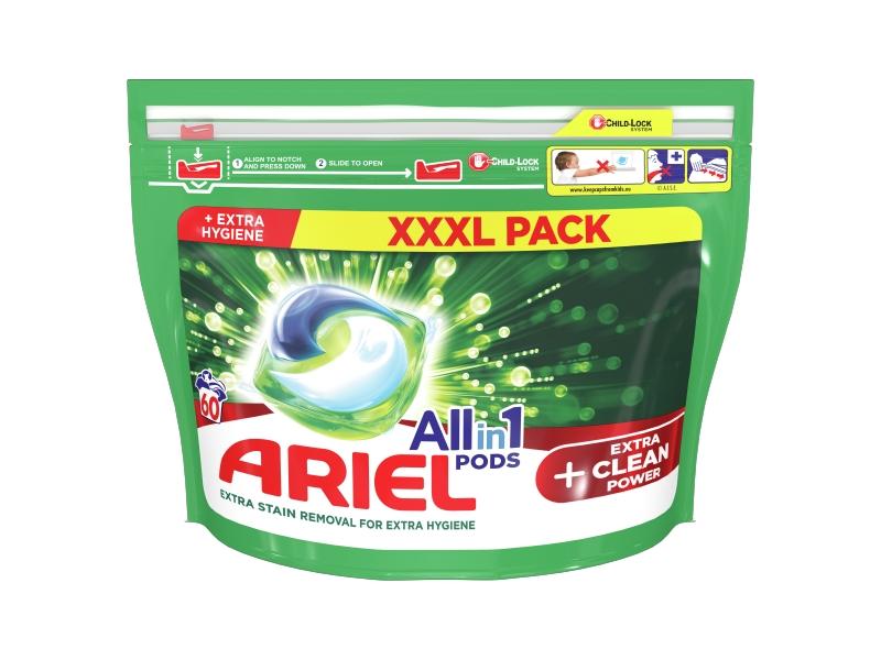Ariel All-In-1 PODs + Extra Clean Power Kapsle Na Praní, 60 Praní