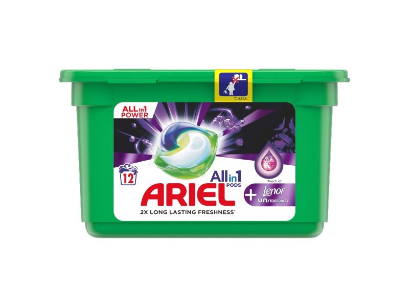 Ariel All-In-1 PODs + Lenor Unstoppables Kapsle Na Praní, 12 Praní