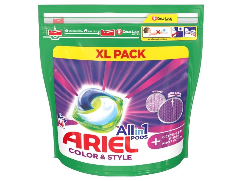 Ariel All-In-1 PODs + Complete Fiber Protection Kapsle Na Praní, 46 Praní