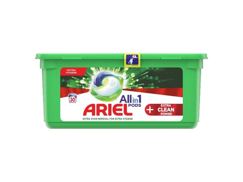 Ariel All-In-1 PODs + Extra Clean Power Kapsle Na Praní, 30 Praní
