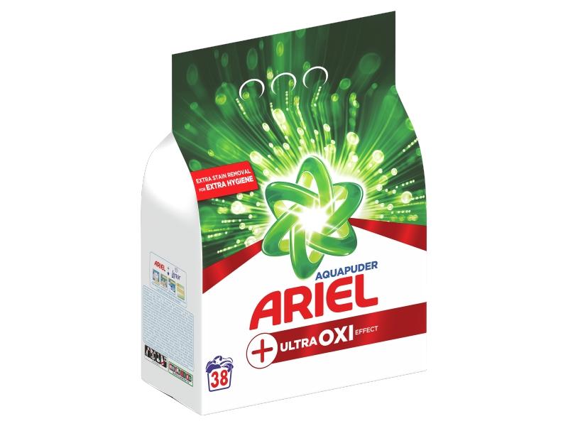 Ariel AquaPuder OXI Extra Hygiene Prací Prášek (38 praní) 2,85kg