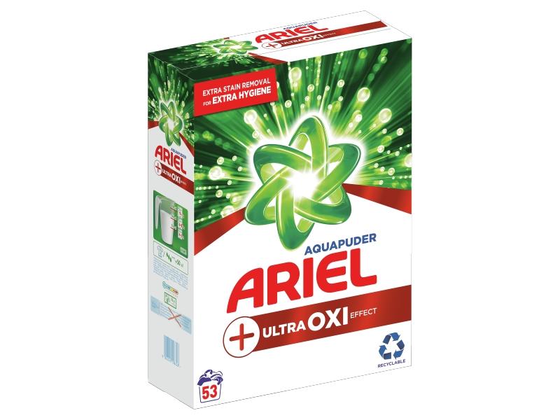 Ariel AquaPuder OXI Extra Hygiene Prací Prášek (53 praní) 3,975kg