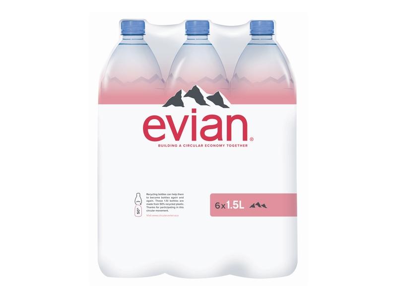 Evian Přírodní minerální voda, nesycená 1,5l
