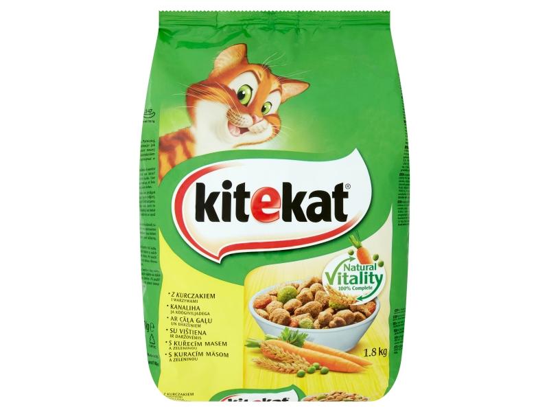 Kitekat Kuřecí maso se zeleninou granule pro kočky 1,8kg