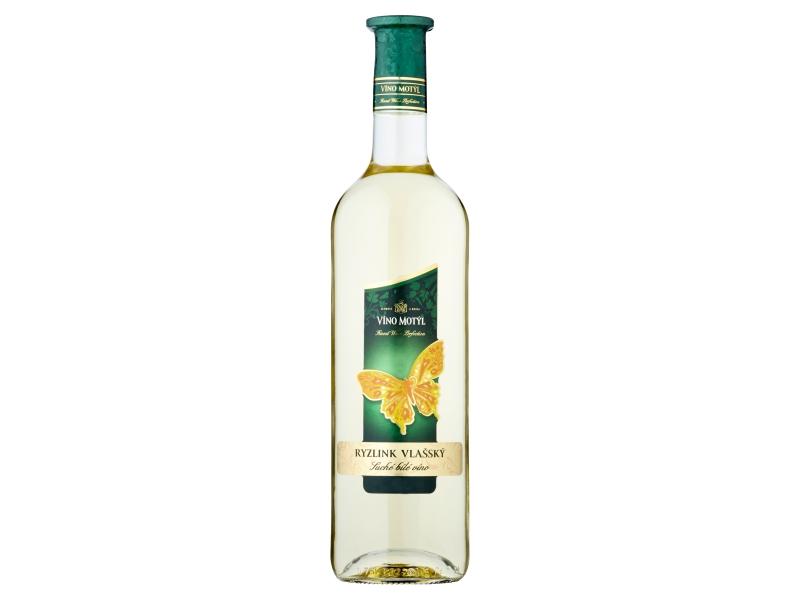 Víno Motýl Ryzlink vlašský suché bílé víno 0,75l