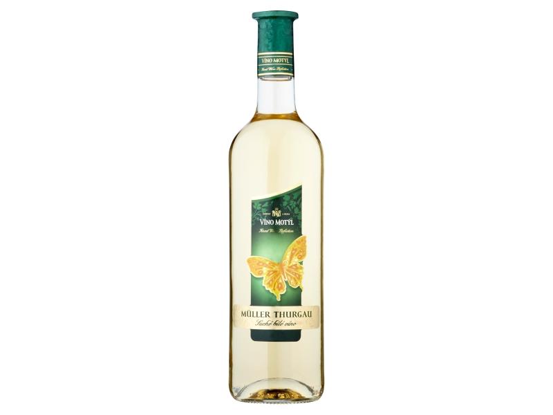 Víno Motýl Müller Thurgau suché bílé víno 0,75l