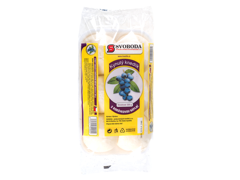Svoboda Kynuté knedlíky s borůvkovou náplní, 300g