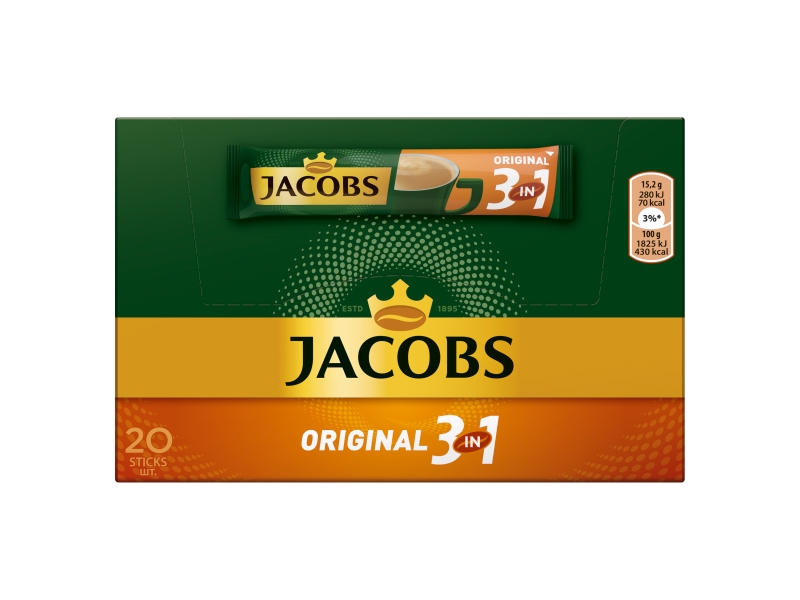 Jacobs Original 3in1, 20 x 15,2g