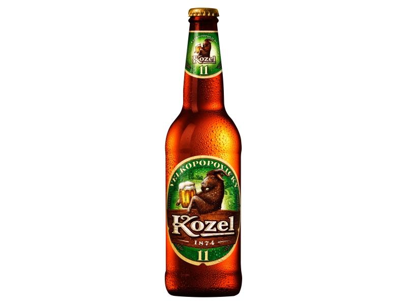 Velkopopovický Kozel 11 pivo ležák světlý 0,5, sklo