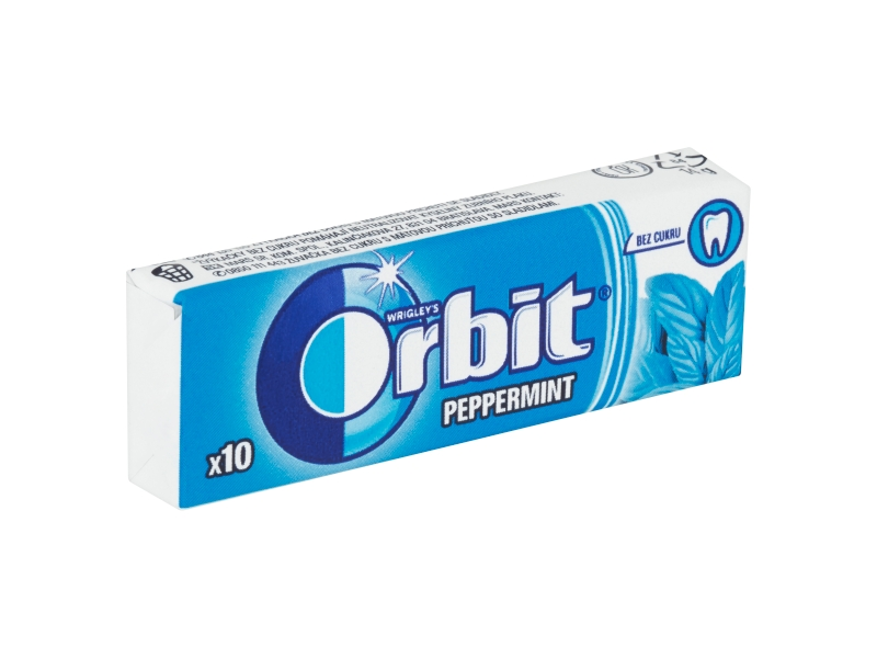 Orbit Peppermint žvýkačky (10 ks) 14g