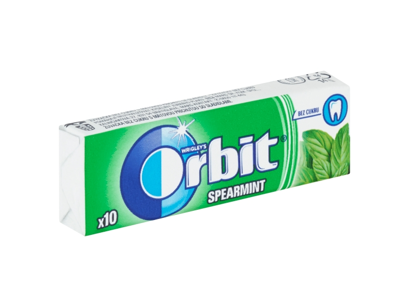 Orbit Spearmint žvýkačky (10 ks) 14g