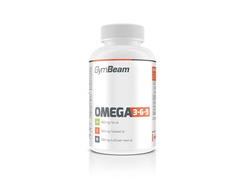 GymBeam Omega 3-6-9, 120 kapslí