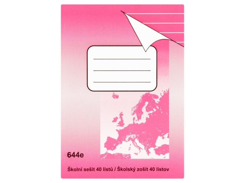 Sešit 644e A6 40 listů linkovaný 1ks